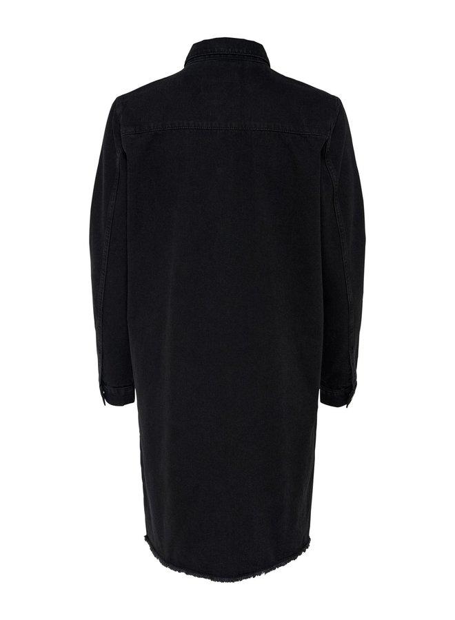 JDYSANSA DRESS RAW HEM MIX DNM Black Denim