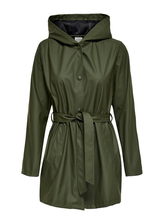 JDYSHELBY BELT RAINCOAT OTW NOOS Forest Night