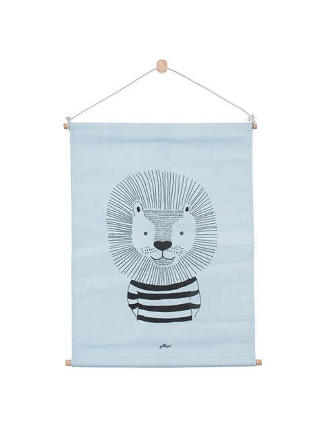Poster 42x60cm canvas Wild animals soft blue