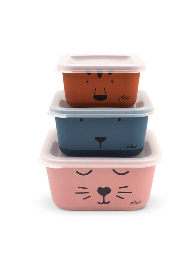 Snackbox bamboe Animal club (3psc)