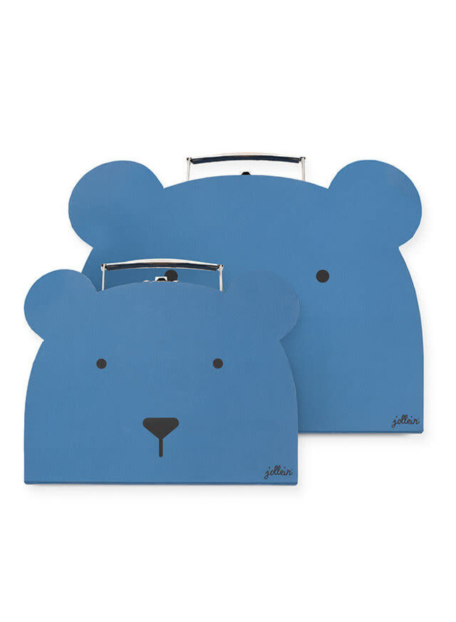 Speelkoffertje Animal club steel blue (2pack)