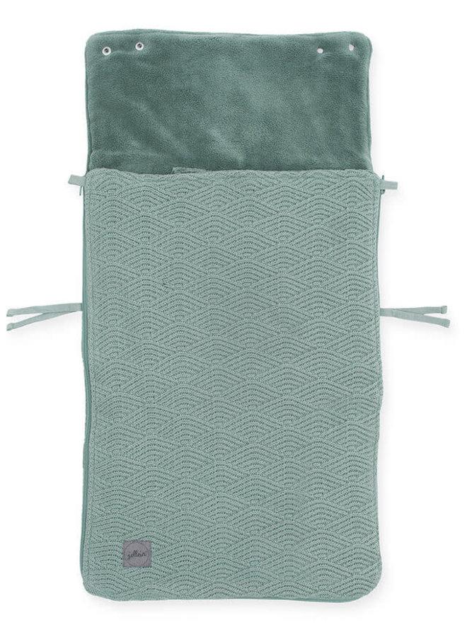 Voetenzak groep 0+ 3/5 punts River knit ash green