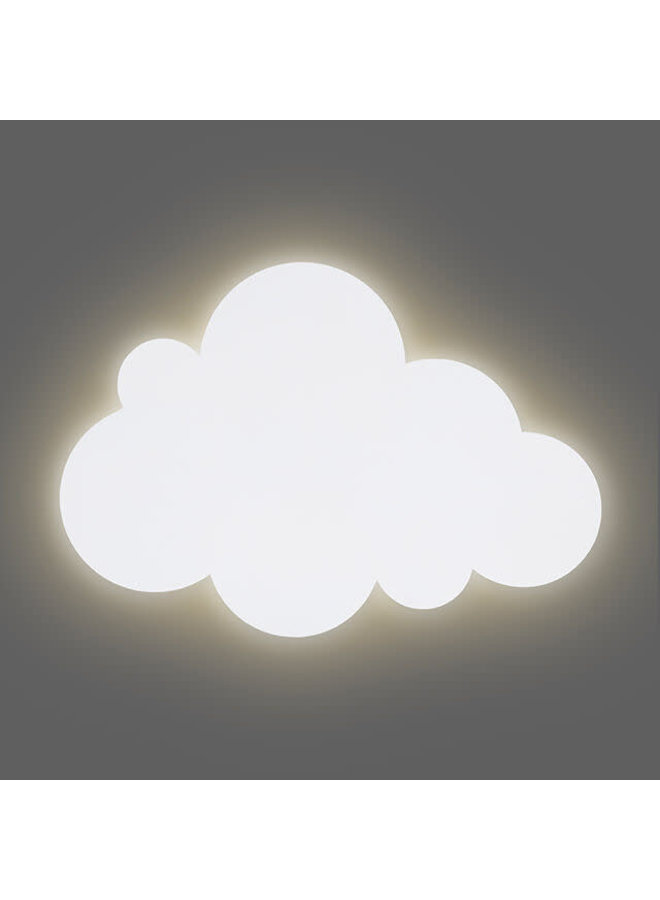 Wandlamp Clouds white
