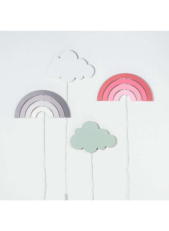 Wandlamp Clouds white
