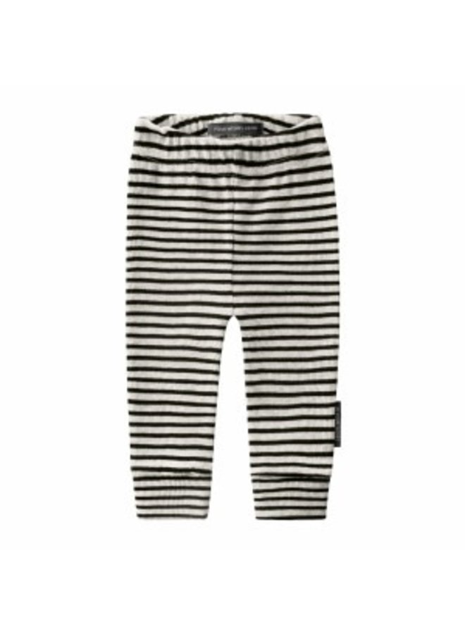 Beige - Stripes | Fitted Pants Chalk