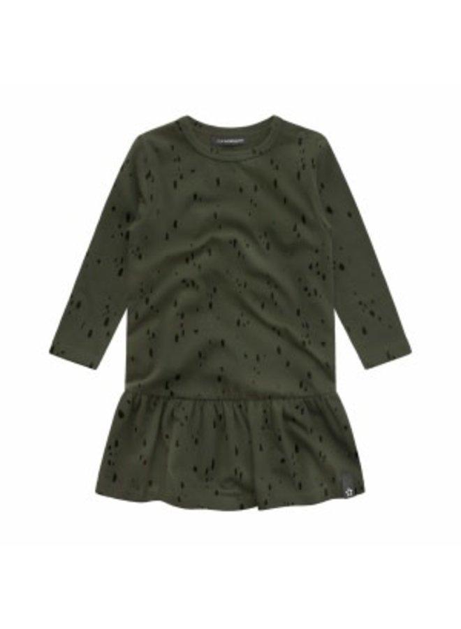 Splatters | Shift Dress Desk Green