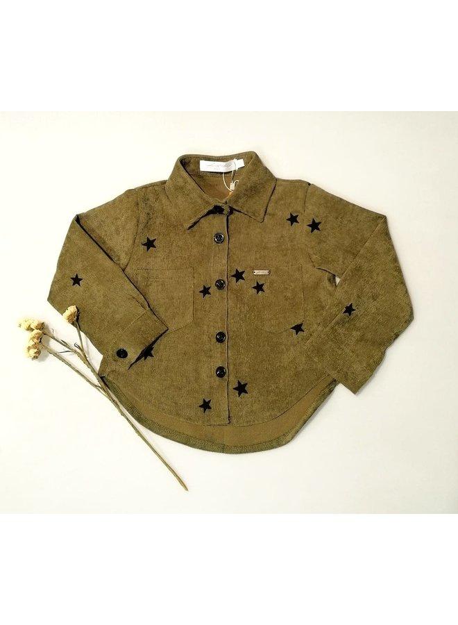 Ambika rib blouse groen ster