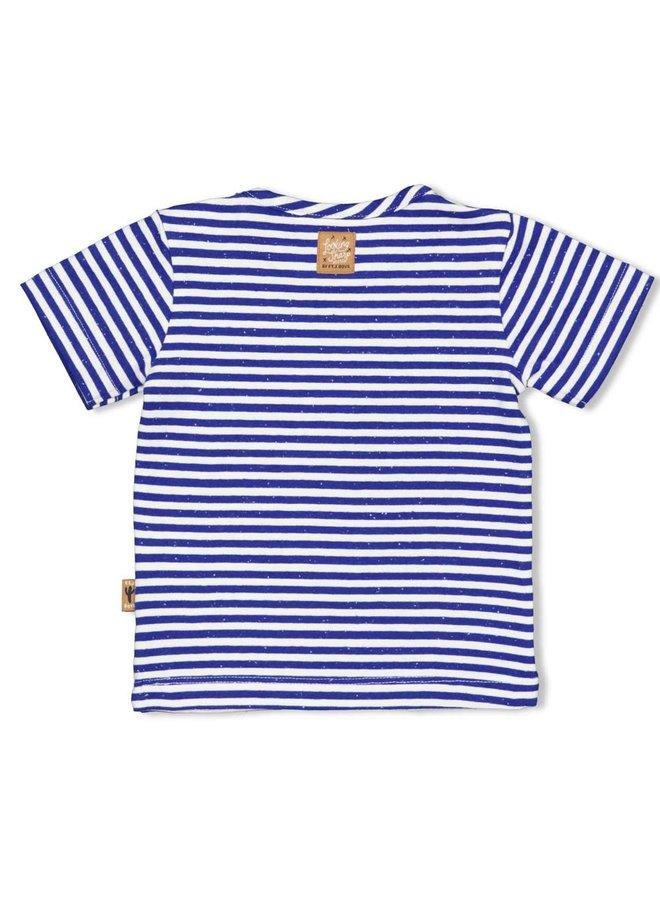 T-shirt streep - Looking Sharp Marine