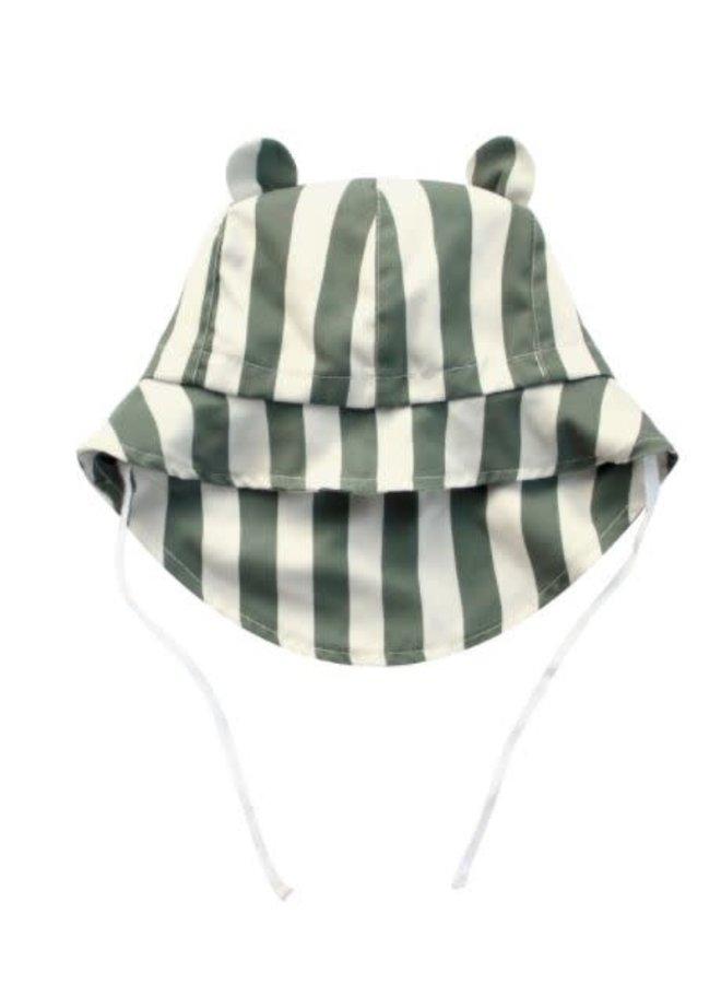Bold Stripes | Bear Summer Hat Old Green
