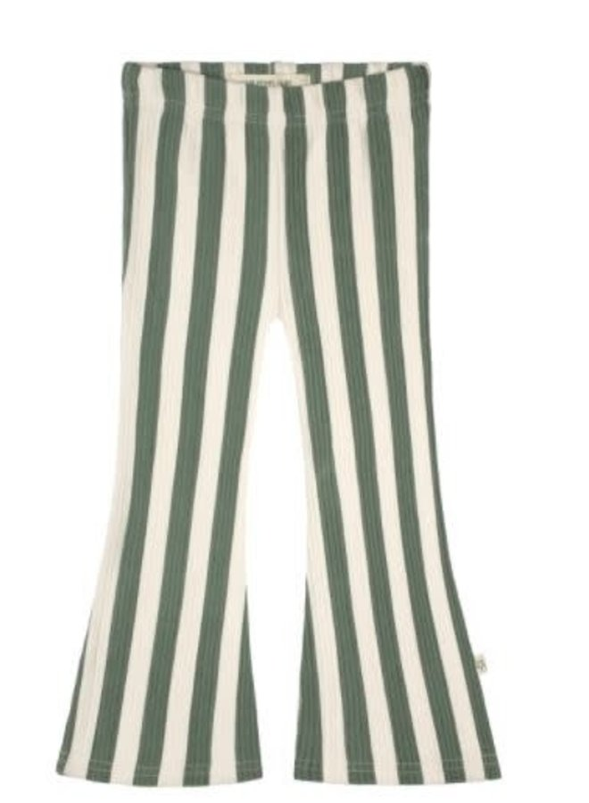 Bold Stripes | Flared Legging Old Green