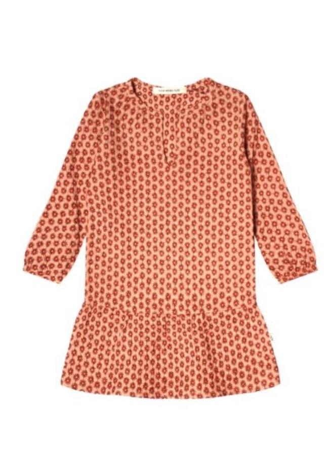Broderie Terra | Tunic Dress Peach