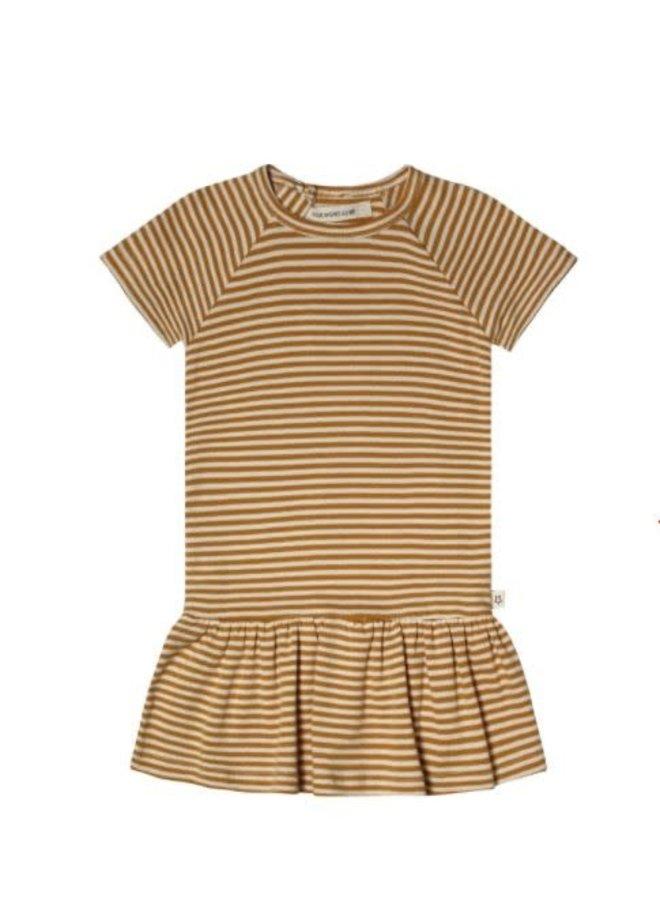 Gold Stripes | SS Shift Dress Soft Yellow