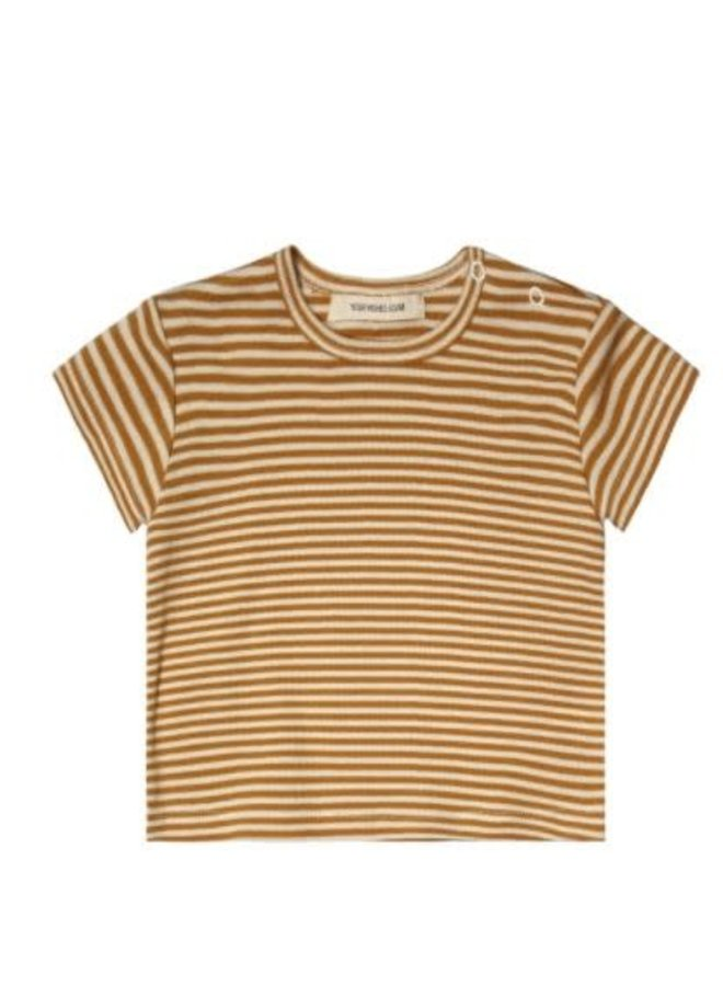 Gold Stripes | Loose Tee Soft Yellow