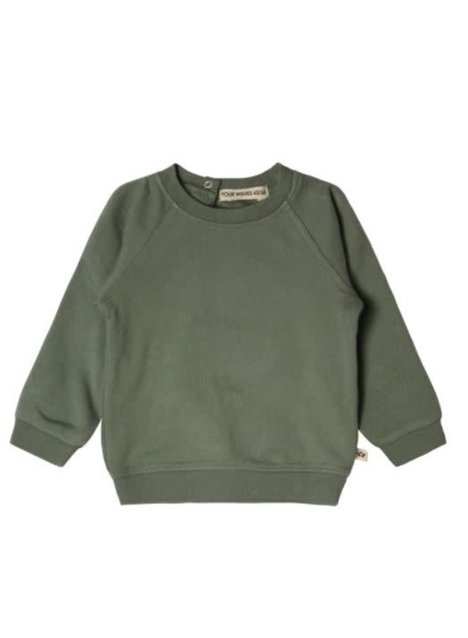 Solid Sweater old green