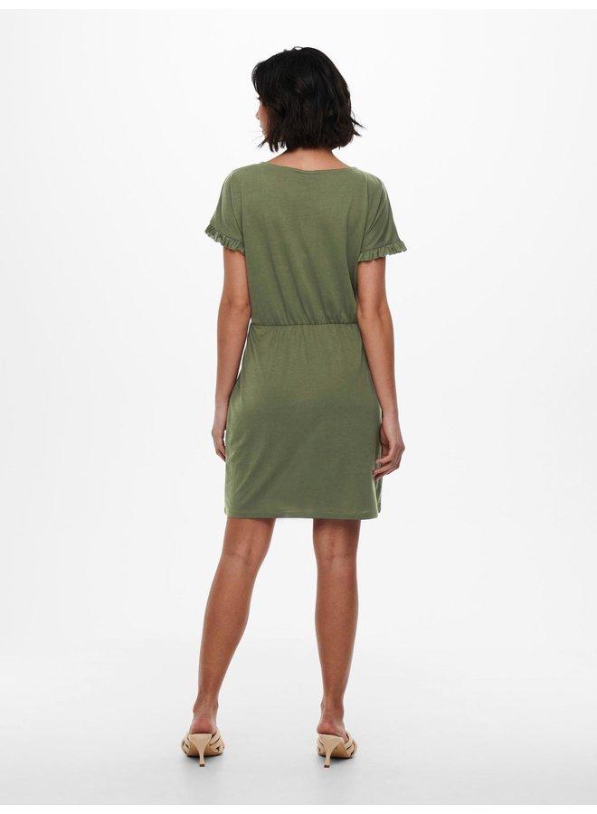 JDYKAREN FROSTY S/S FRILL DRESS JRS Kalamata