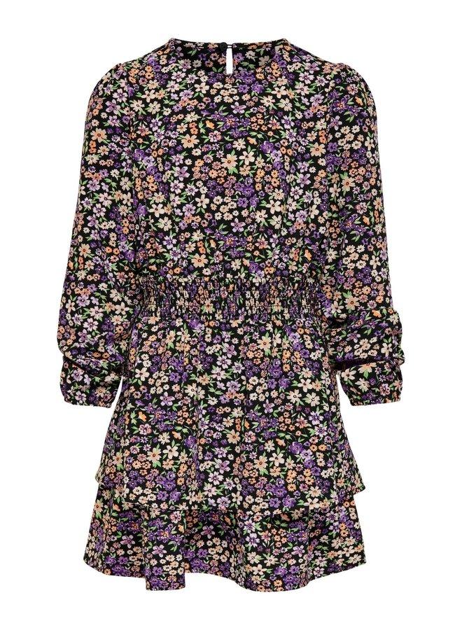 KONSOLVEIG L/S LAYERED SH DRESS CS WVN Black KIDS SHORE FLOWERS