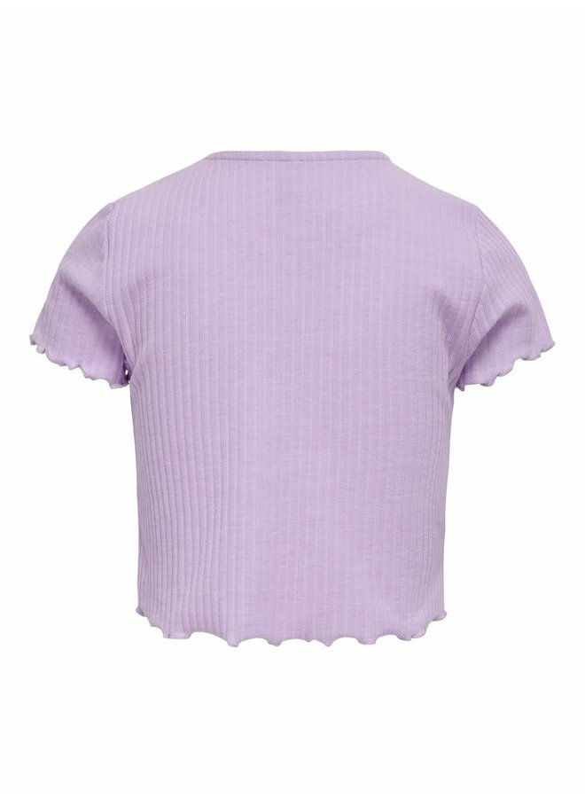 KONNELLA S/S O-NECK TOP NOOS JRS Orchid Bloom