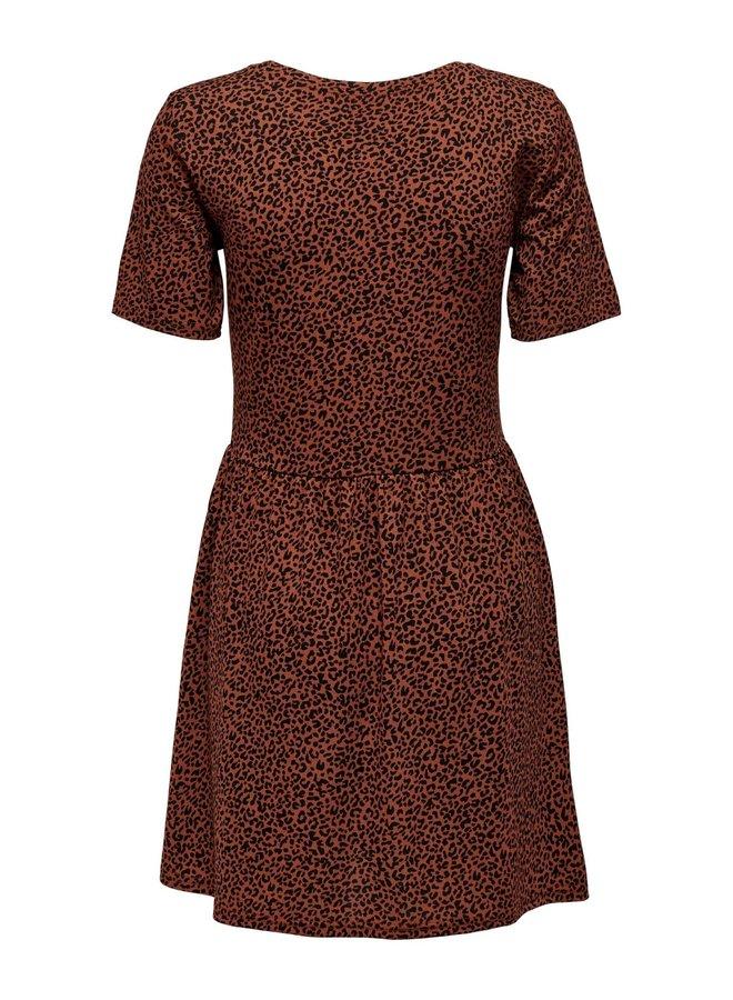 JDYKIRKBY S/S SHORT DRESS JRS Rustic Brown MINI LEO