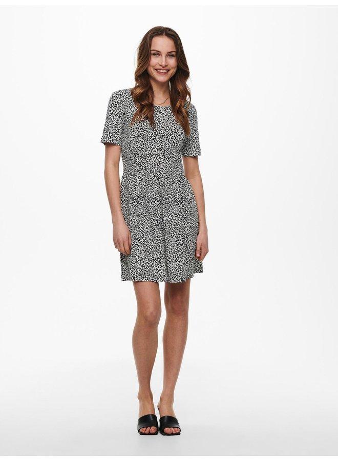 JDYKIRKBY S/S SHORT DRESS JRS Cloud Dancer MINI LEO