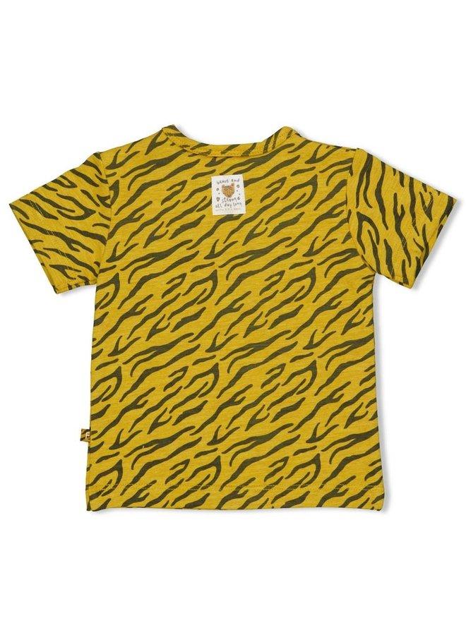 T-shirt AOP - Go Wild Okergeel melange