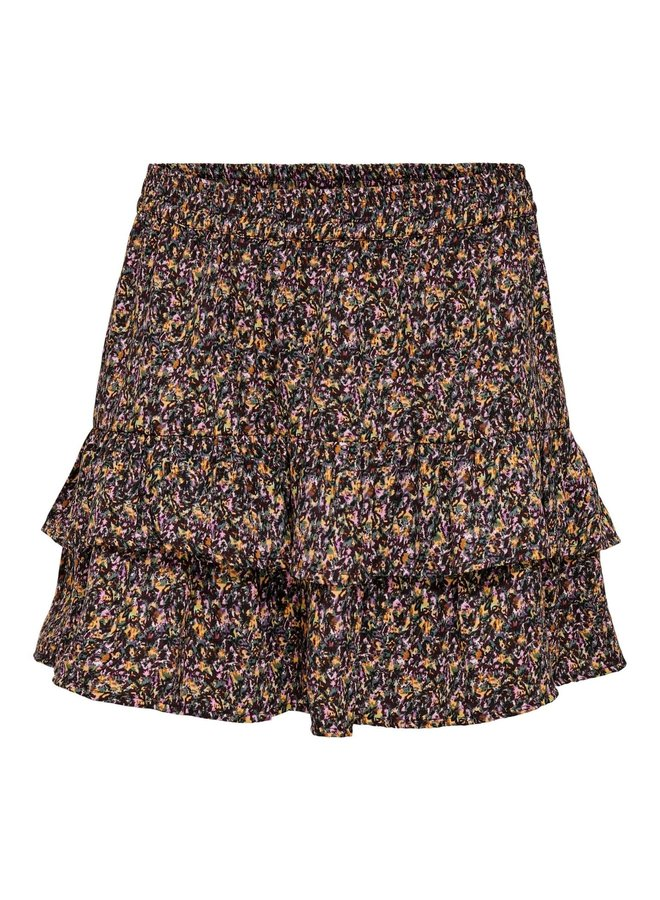 JDYMIA SKIRT WVN Bitter Chocolate SMALL FLOWER