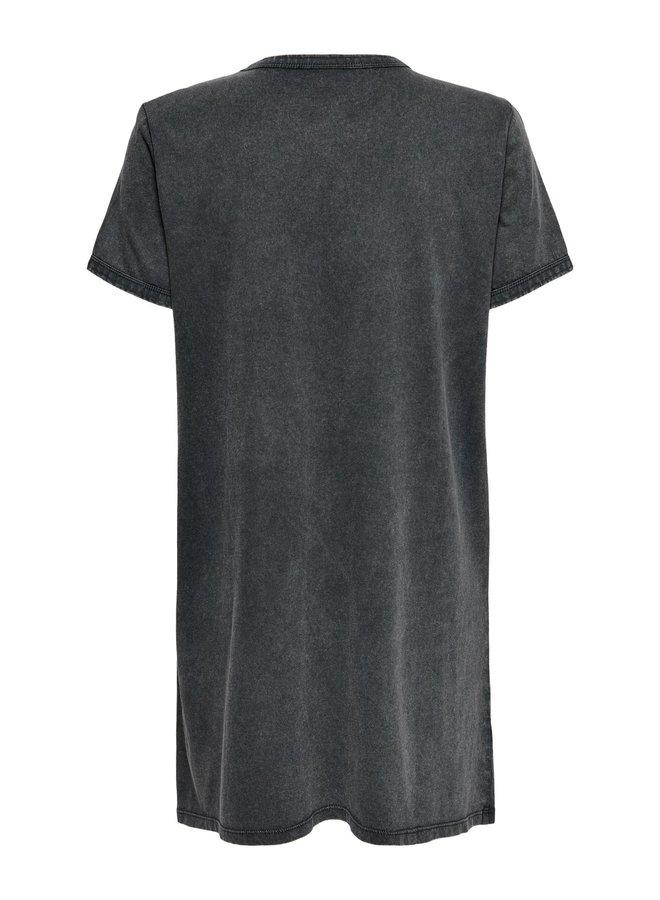 JDYELINA LIFE S/S PRINT DRESS JRS Black PANTHER