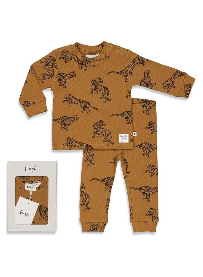 Tiger Terry - Premium Sleepwear by FEETJE Camel