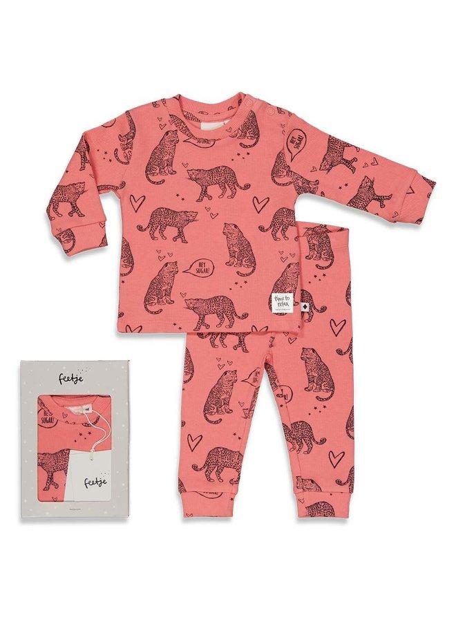 Roarr Ruby - Premium Sleepwear by FEETJE Roze