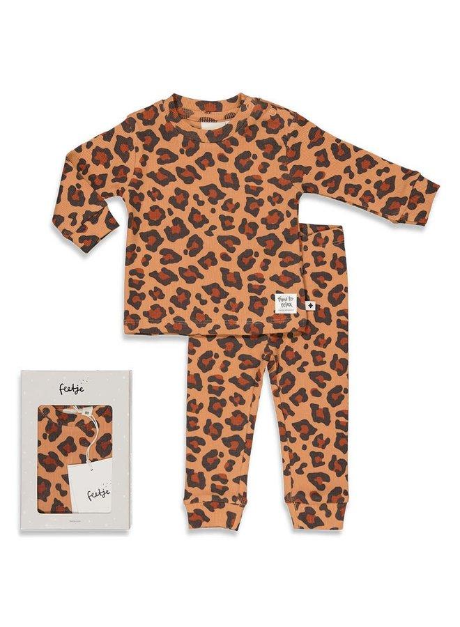 Leopard Lee - Premium Sleepwear by FEETJE Hazelnoot