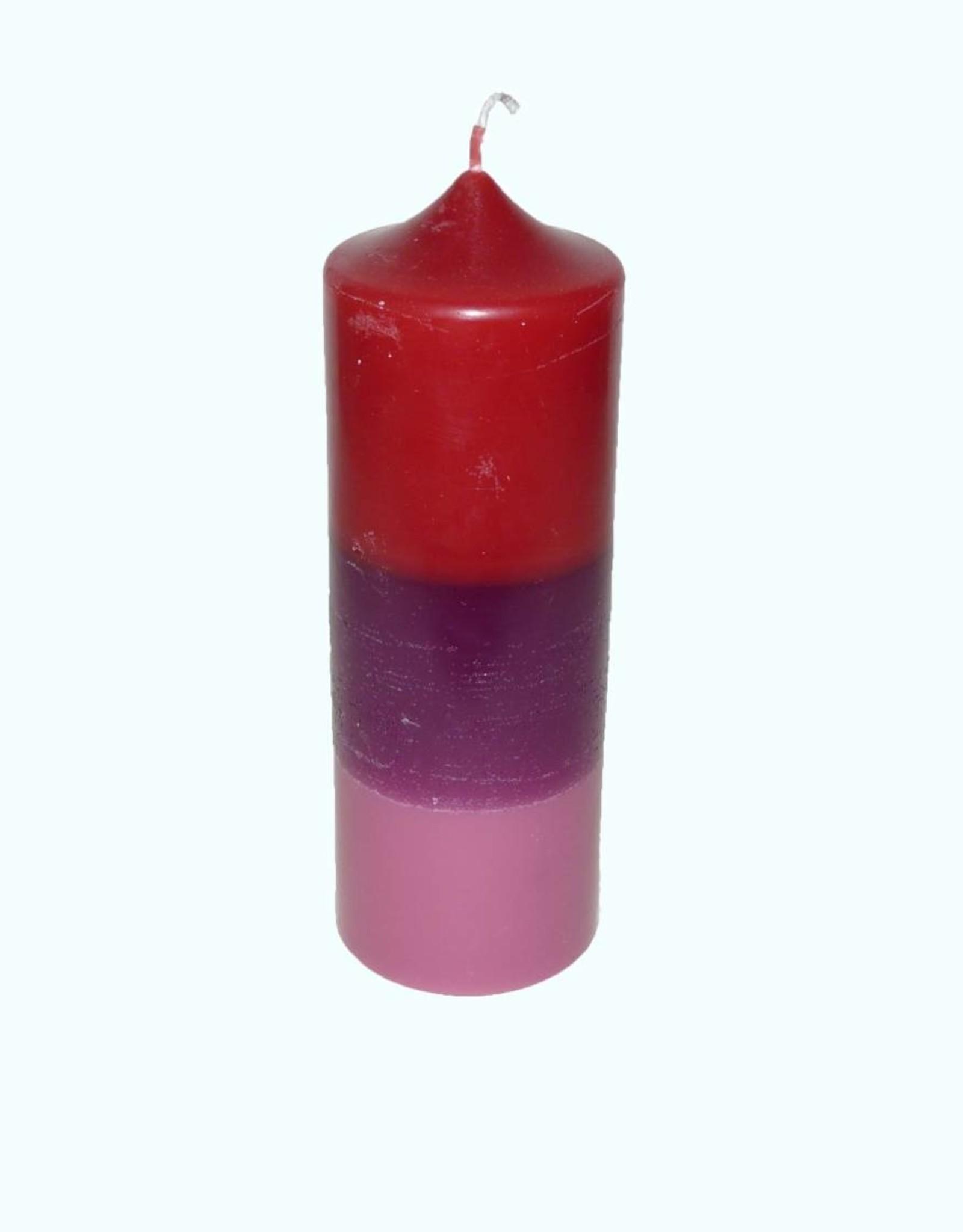 Sierkaars Tricolor Red-Purple-Pink Ø 7x20 cm