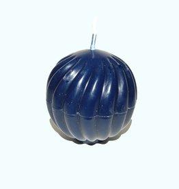 Golvende Bolkaars Dark Blue Ø 7 cm