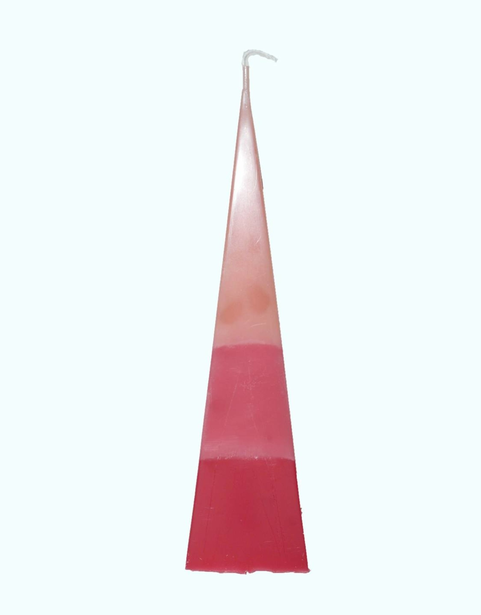 Kaars Piramide TriColor Roze 6x6x23 cm