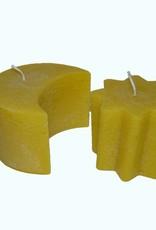 Zon & Maan kaars in de kleur geel - Leuk cadeau