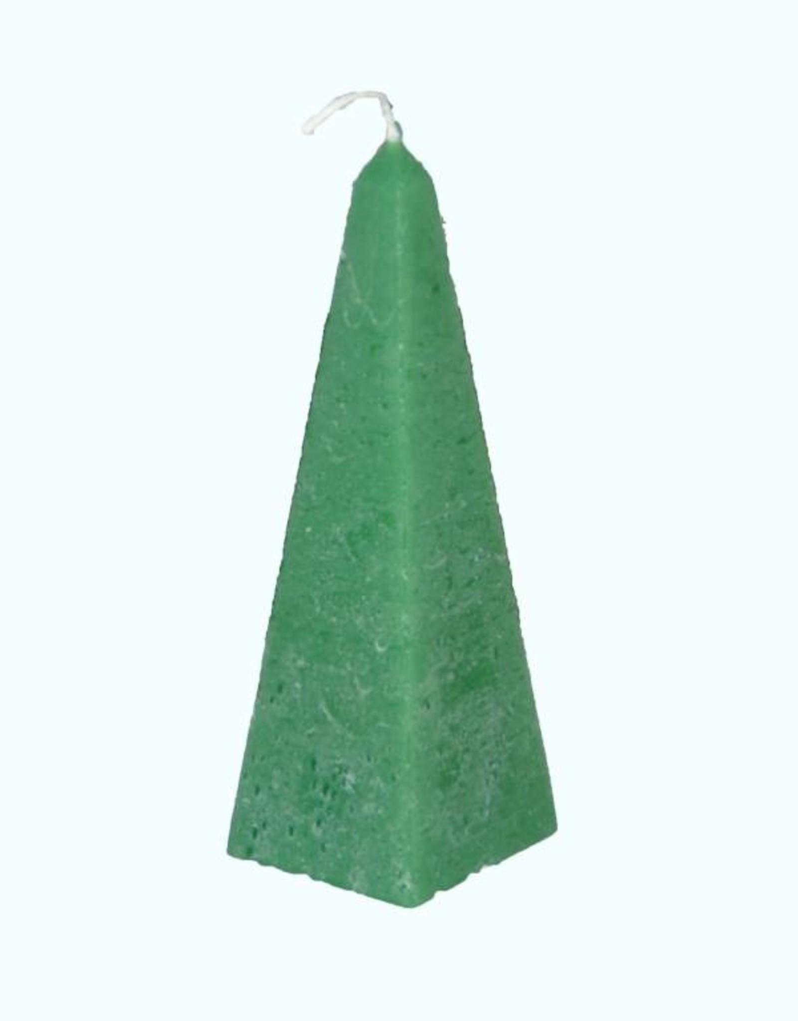 Kaars Obelisk Rustique Kerstgroen - Kerstkaars