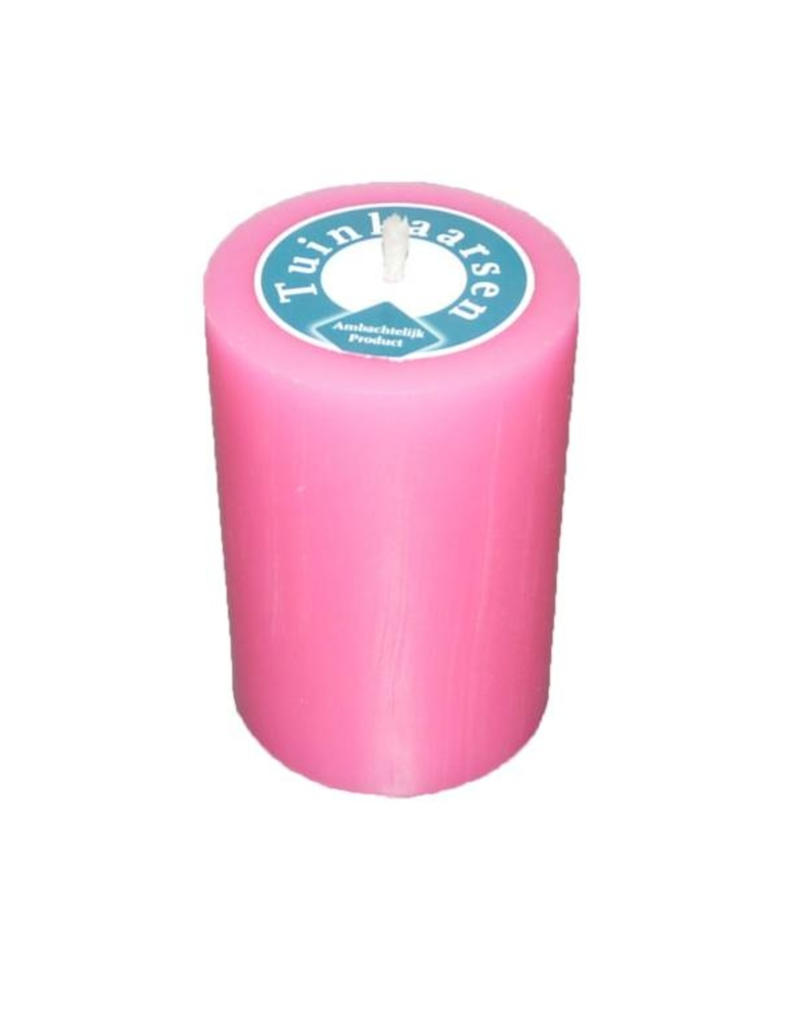 Buitenkaars in felle kleur roze Ø 7x10cm