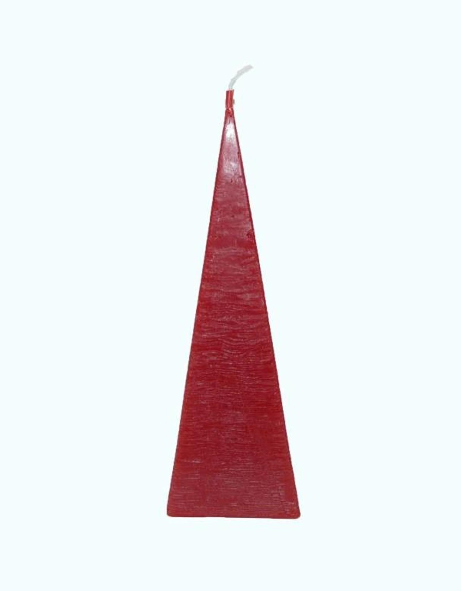 Piramide Kaars Rood Rustique 6x6x23 cm