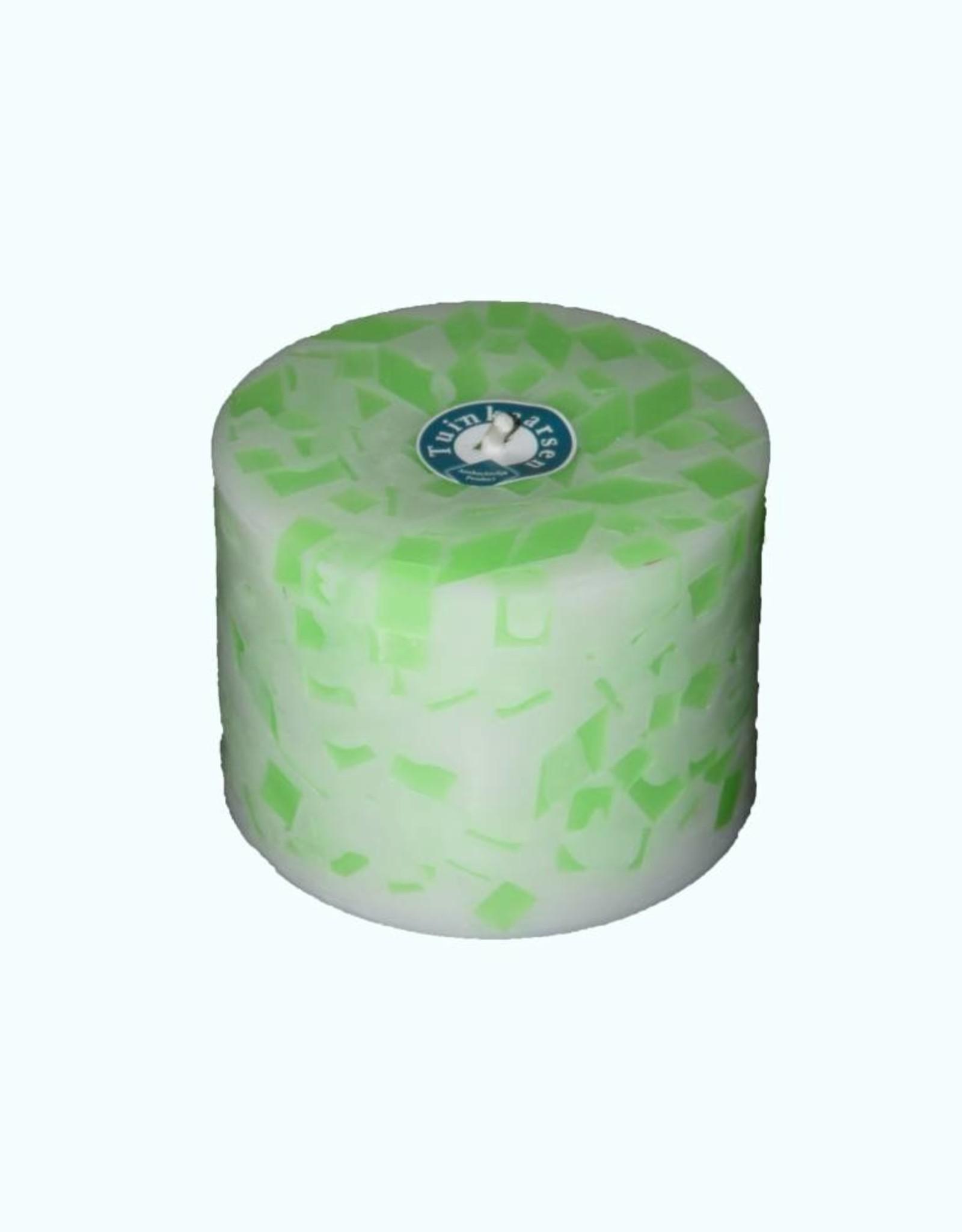 Grote Tuinkaars Mozaïek Groen-Fluor XL Ø 18x12 cm