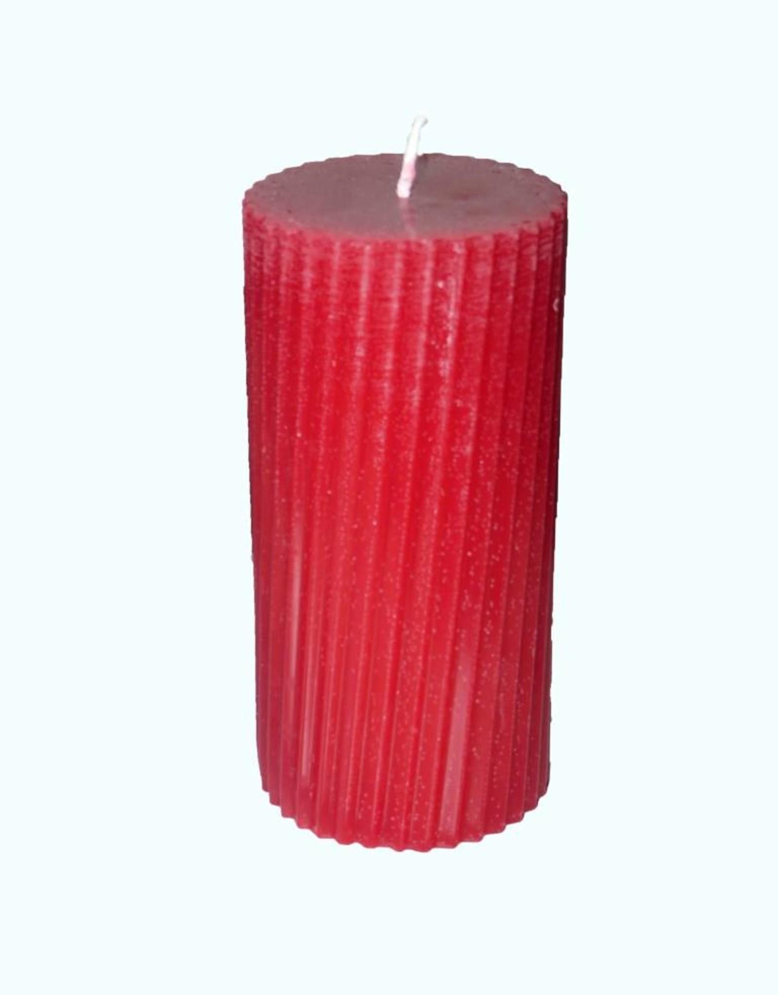Twisted Stompkaars in de kleur Rood Ø 8x16 cm