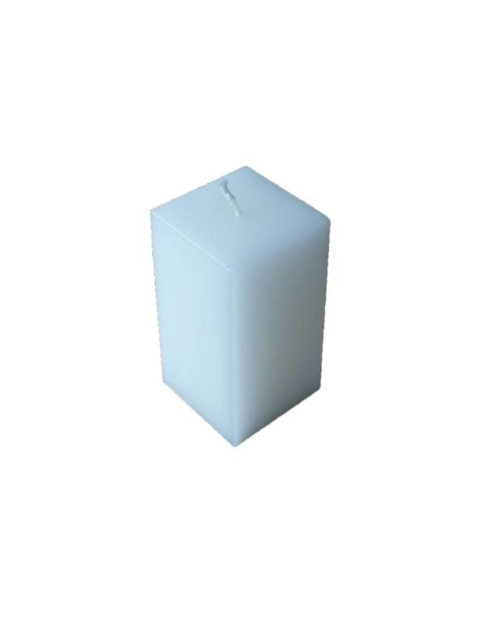 Witte vierkante kaars met rustique uitstraling