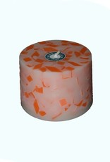 Grote Tuinkaars Mozaïek Oranje-Fluor XL Ø 18x12 cm