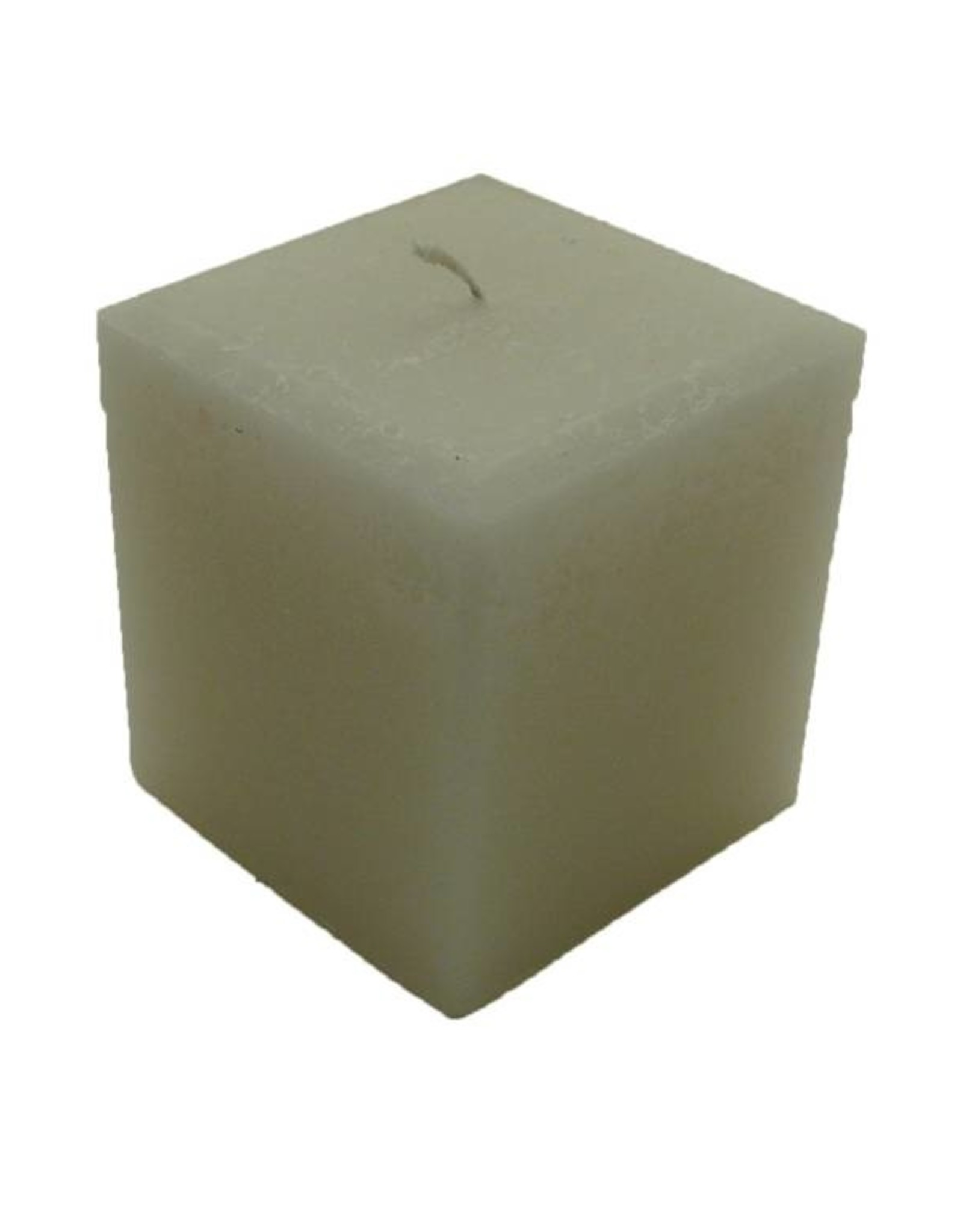 Grote vierkante kaars in de kleur Wit
