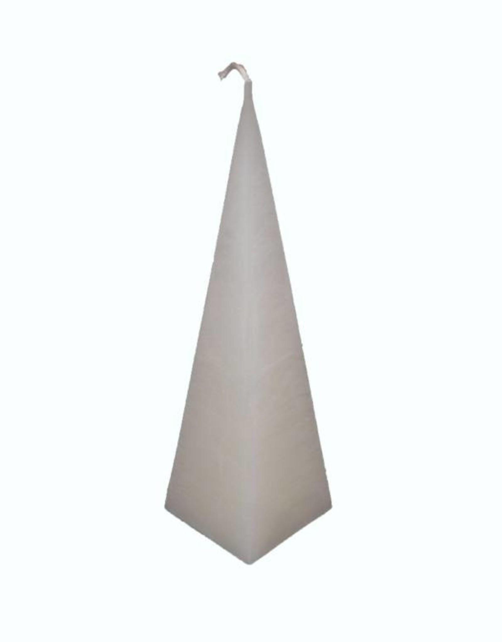 Piramide Kaars Wit Rustiek 6x6x23 cm