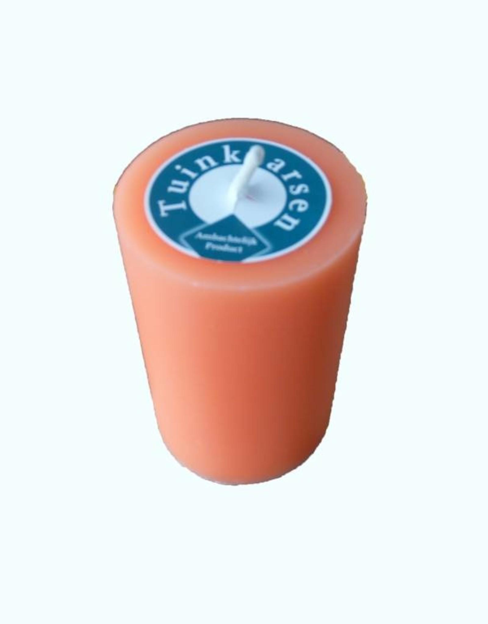 Buitenkaars in de frisse kleur Oranje Ø 7x10cm