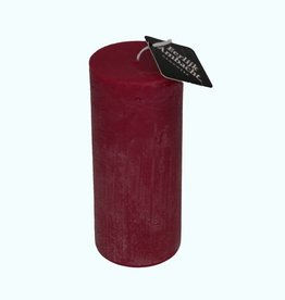 Stompkaars Rustiek Bordeaux Rood Ø 68x160 mm