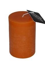 Rustieke Stompkaars Oranje Ø 68x100 mm