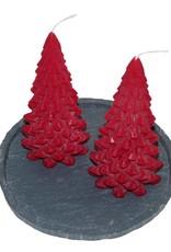 Kerstboom Kaars Rood - Christmas Tree Candle Red 20x10 cm