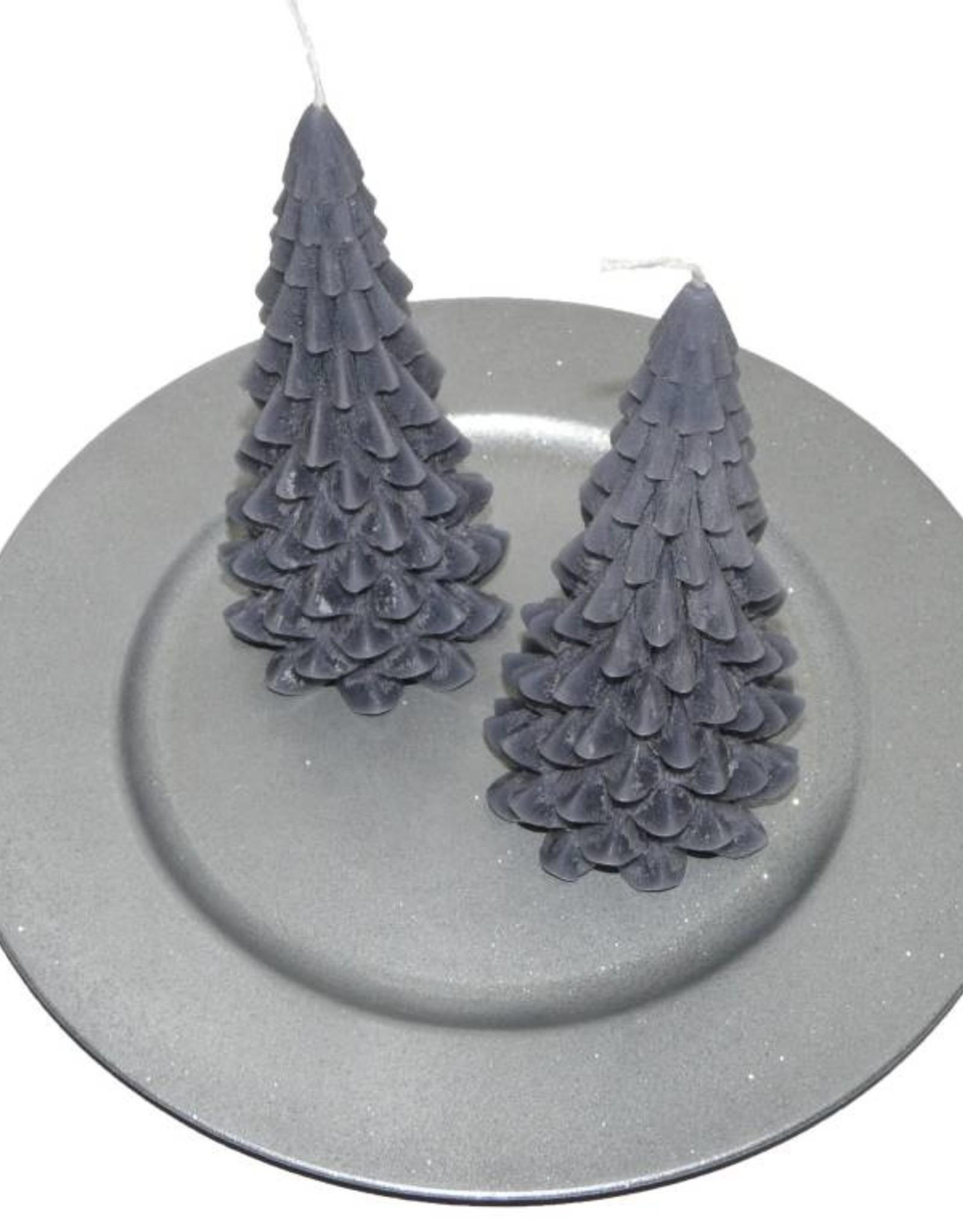 Kerstboom Kaars Antraciet - Christmas Tree Candle 20x10 cm