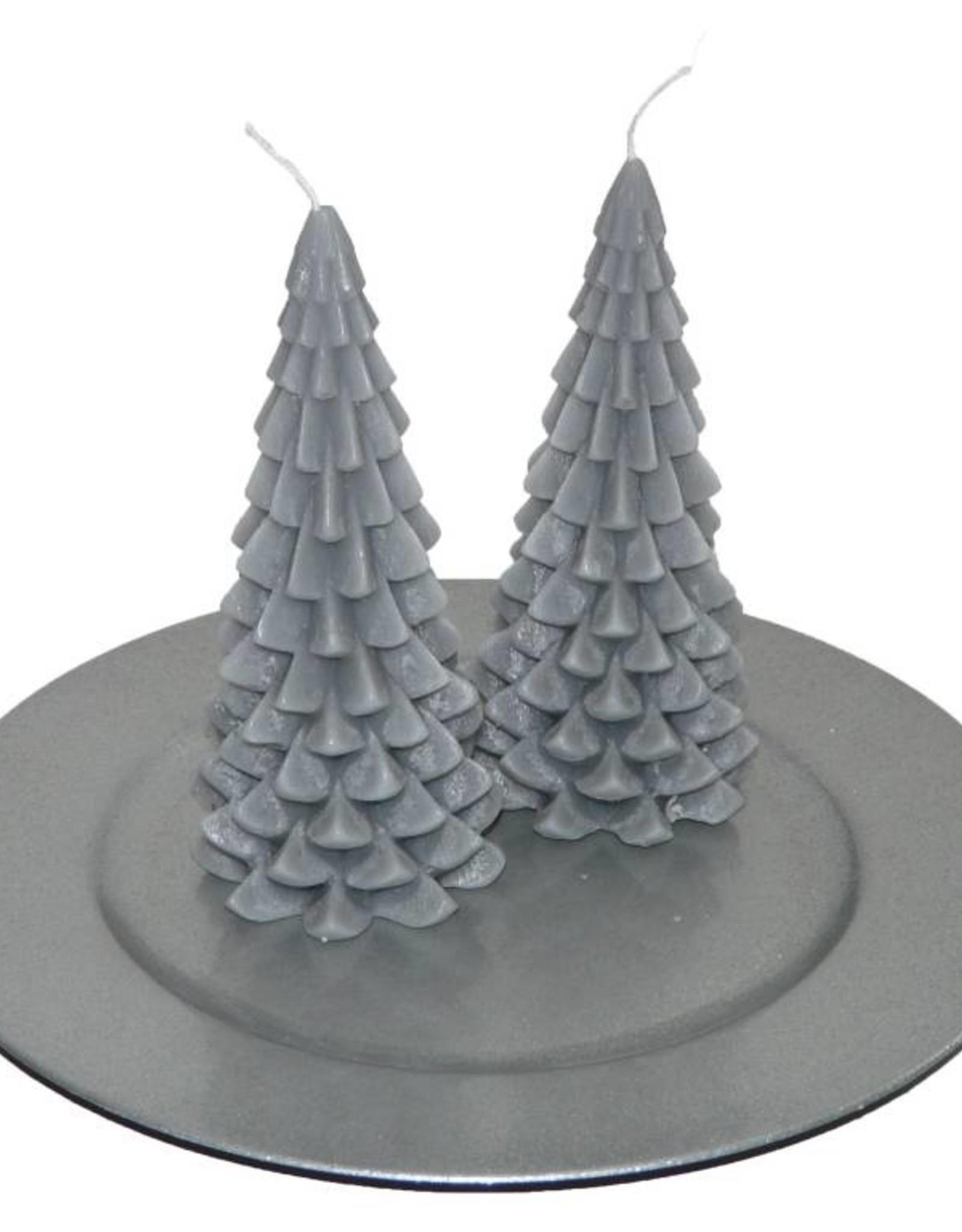 Kerstboom Kaars - Christmas Tree Candle Grey 20x10 cm