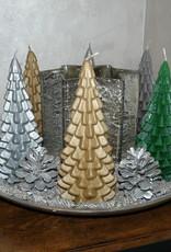 Kerstboom Kaars - Christmas Tree Candle Silver 20x10 cm