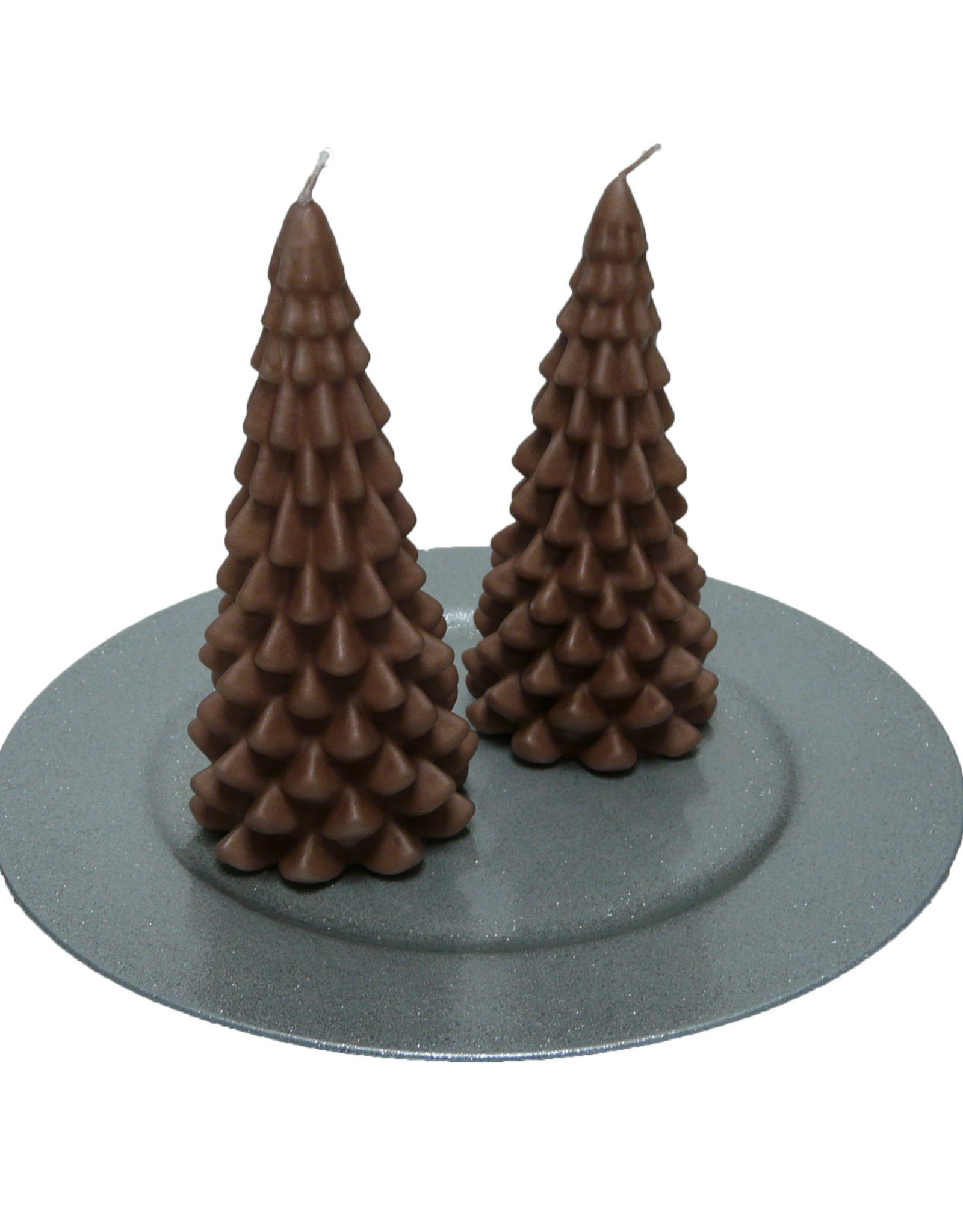 Kerstboom Kaars - Christmas Tree Candle Copper 20x10 cm - Copy